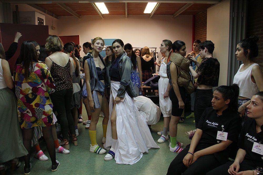 desfile de moda, moda sostenible,, desfile alumnos, upcycling