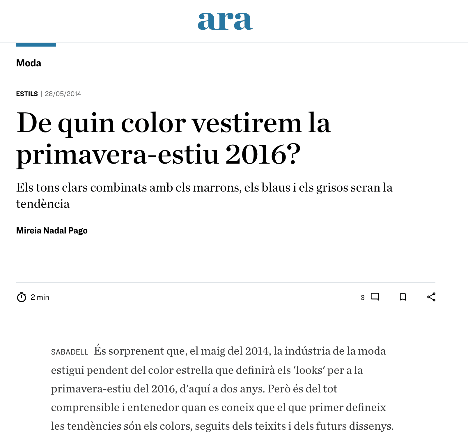 diari ara, tendències color